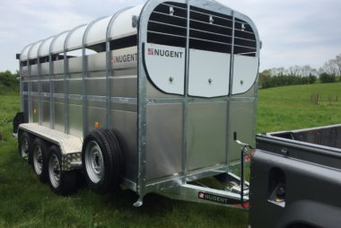 Nugent 14ft Livestock Cattle Trailer Tri axle