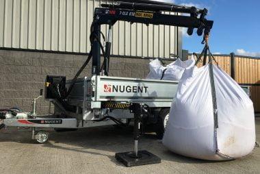 Nugent Hiab Crane Trailer